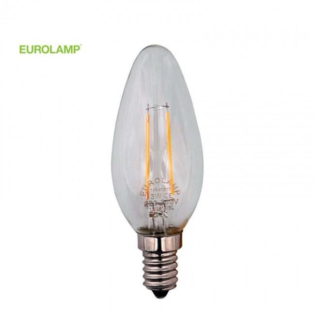 ΛΑΜΠΑ LED ΜΙΝΙΟΝ FILAMENT 1W E14 2700K 220-240V | EUROLAMP |