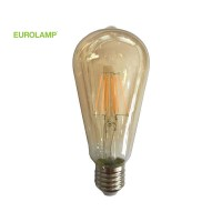 ΛΑΜΠΑ LED ST64 FILAMENT 10W E27 2400K 220-240V GOLD DIMMABLE | EUROLAMP |