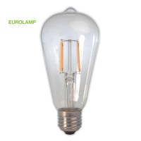 ΛΑΜΠΑ LED ST64 FILAMENT 7W E27 2200K 220-240V CLEAR DIMMABLE | EUROLAMP |