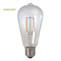ΛΑΜΠΑ LED ST64 FILAMENT 7W E27 2200K 220-240V CLEAR DIMMABLE