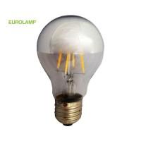 ΛΑΜΠΑ LED ΑΝΕΣΤΡΑΜΜΕΝΟΥ ΚΑΘΡΕΠΤΟΥ FILAMENT 6W E27 2700K 220-240V DIMMABLE | EUROLAMP |