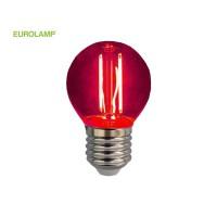 ΛΑΜΠΑ LED ΣΦΑΙΡΙΚΗ FILAMENT 3W E27 220-240V ΚΟΚΚΙΝΟ | EUROLAMP |