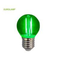 ΛΑΜΠΑ LED ΣΦΑΙΡΙΚΗ FILAMENT 3W E27 220-240V ΠΡΑΣΙΝΗ | EUROLAMP |