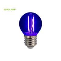 ΛΑΜΠΑ LED ΣΦΑΙΡΙΚΗ FILAMENT 3W E27 220-240V ΜΠΛΕ | EUROLAMP |