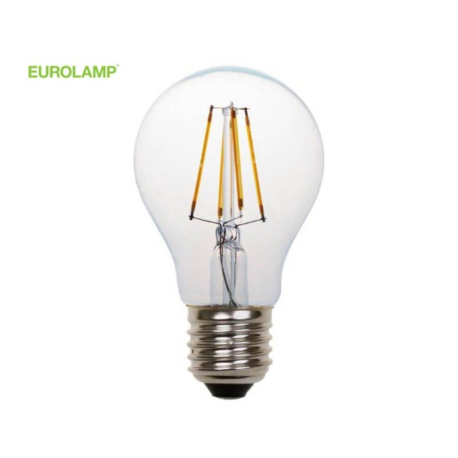 ΛΑΜΠΑ LED ΚΟΙΝΗ FILAMENT 8W E27 2700K 220-240V CLEAR | EUROLAMP |
