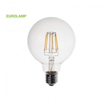 ΛΑΜΠΑ LED ΓΛΟΜΠΟΣ G125 FILAMENT 8W Ε27 2700K 220-240V DIMMABLE | EUROLAMP |