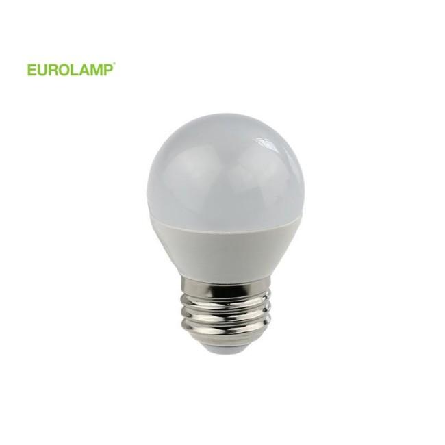 ΛΑΜΠΑ LED ΣΦΑΙΡΙΚΗ 5W Ε27 4000K 220-240V   EUROLAMP  