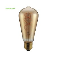 "ΛΑΜΠΑ LED ST64 FILAMENT ""DECOR"" 5W E27 2000K 220-240V DIMMABLE GOLD"