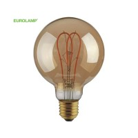 "ΛΑΜΠΑ LED G125 FILAMENT ""DECOR"" 5W E27 2000K 220-240V DIMMABLE GOLD"