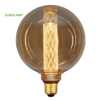 ΛΑΜΠΑ LED ΓΛΟΜΠΟΣ G125 3,5W Ε27 2000K 220-240V GOLD GLASS DIMMABLE