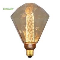 ΛΑΜΠΑ LED ΔΙΑΜΑΝΤΙ G125 3,5W Ε27 2000K 220-240V GOLD GLASS DIMMABLE