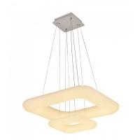 LED κρεμαστό φωτιστικό οροφής 68W διπλό με εναλλαγή χρώματος και λευκό σώμα Dimmable