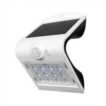 LED ηλιακό φωτιστικό 1.5W 4000K Φυσικό λευκό με λευκό σώμα
