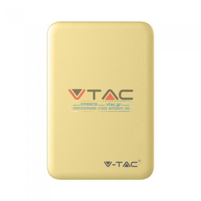 Powerbank 5000mAh Κίτρινο V-TAC